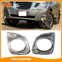 For Nissan Patrol Y62 Middle East version 2010 2015 2PCS Front Fog Lamp Grille grille grill grill lamp grille nissan -