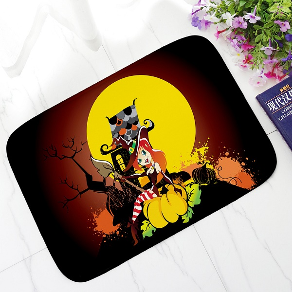 Aliexpress.com : Buy Halloween Cartoon Mats Lovely Pumpkin Printing Carpets  Anti Slip Floor Mat Kitchen Living Room Rugs Animal Front DoorMat Tapetes  From ...