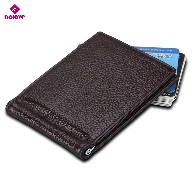 dolove latest slim leather clip wallet for men best front pocket wallet with credit card holder id case rfid blocking - Best Card Holder Wallet