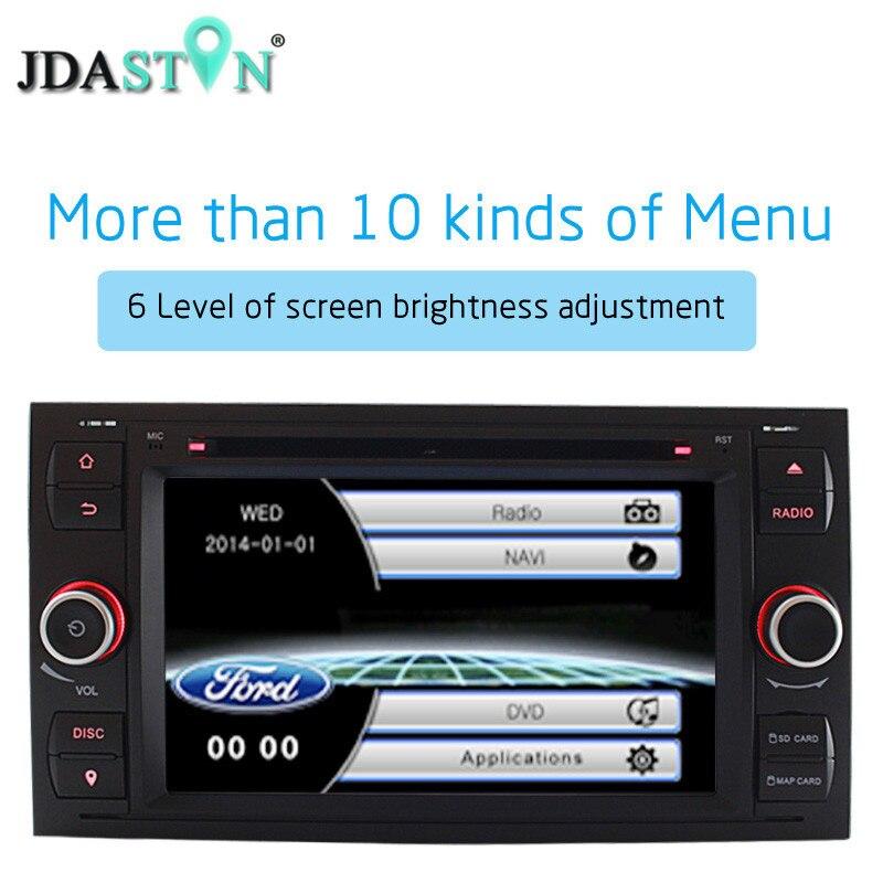 JDASTON 2 Din 7 Inch font b Car b font DVD Player For Ford Mondeo Focus