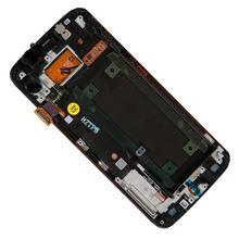 Display dirakit dengan touchscreen depan Frame dan tombol Home untuk Samsung Galaxy S6 Tepi SM-G925F GH97-17162A/17162E/17162B