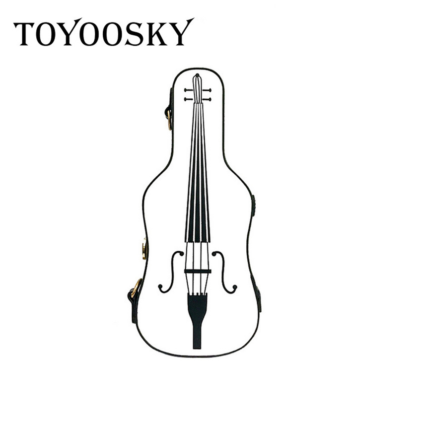 TOYOOSKY Fashion 2017 Unique Women Violin Pattern Tote Bags Messenger Bag Girls PU Leather Crossbody Shoulder Bag Handbag White