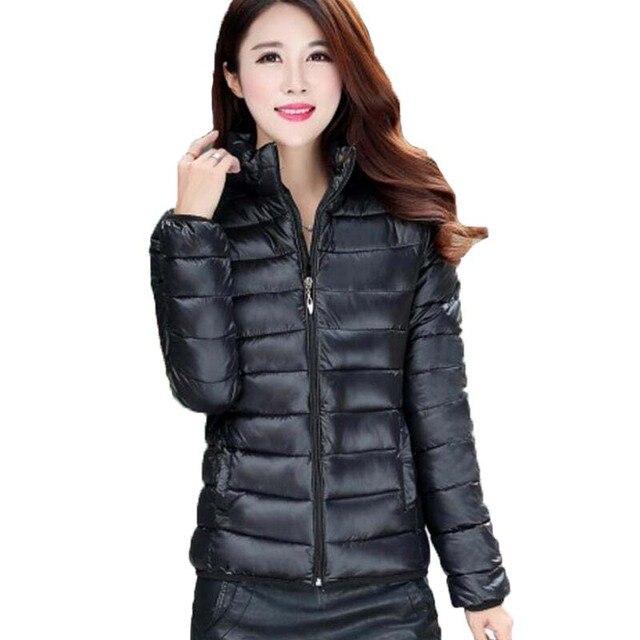 9ecf7ecfbd0 OEAID зимняя куртка пальто женское Новое 2019 зимняя женская парка короткая  тонкая Утепленная стеганая куртка женские