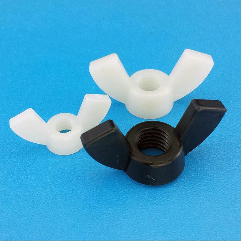 M4 M5 M6 M8 M10 M12 DIN315 Nylon Wing Nut /Hand Twist Nut/thumb nut/butterfly nut Nylon DIN315 цена