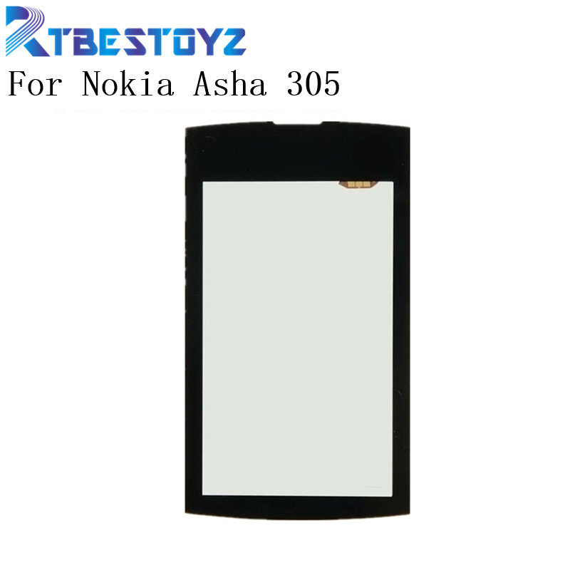 RTBESTOYZ 305 Touchscreen For Nokia Asha 305 306 3050 Sensor Touch Screen Digitizer Front Glass N305