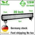 Waterproof combo beam 10100lms 20 inch 126w offroad led light bar work light 4x4 car driving lights 12v wiring harness