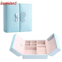 Jewellery Case Earrings Necklace Bracelets Display Box Velvet Presentation Gift Boxes Amazing 2017 New