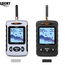 Russian Menu!!!Lucky FFW718 Wireless Portable Fish Finder Black Grey Color Optional