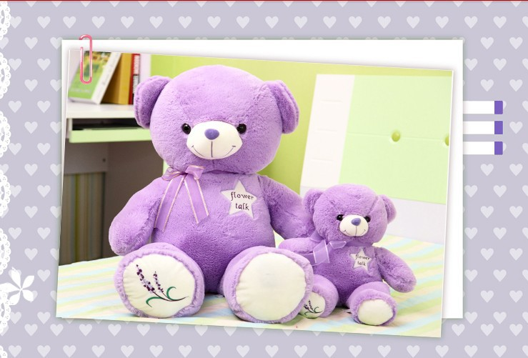lovely lavender  teddy bear toy plush toy big purple stuffed bear toy birthday gift  about 100cm fancytrader new style giant plush stuffed kids toys lovely rubber duck 39 100cm yellow rubber duck free shipping ft90122