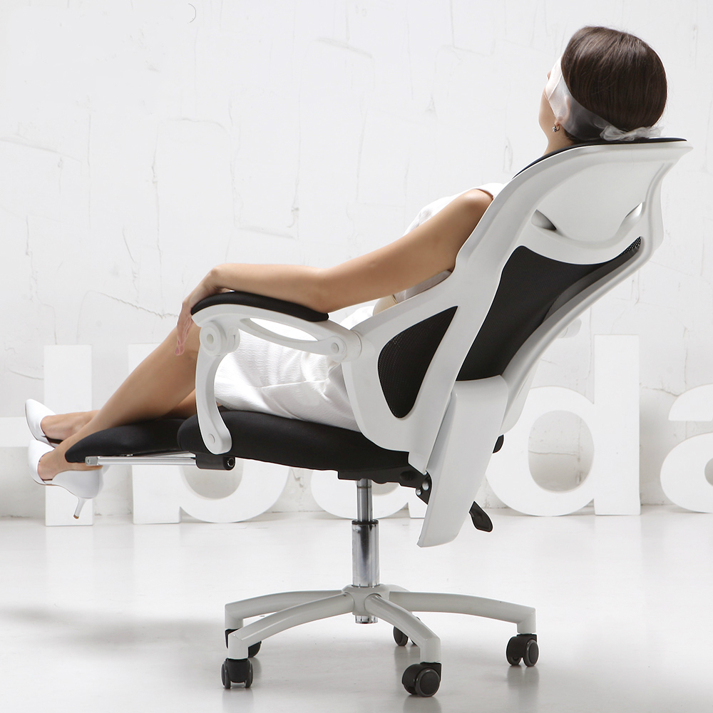 Banana game chair - Mesh Lift Home Computer Gaming Chair Ergonomic Chair With Footrest Reclining Swivel Boss Office Armchair 150