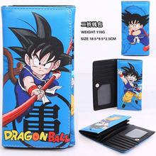PU long wallet DRAGON BALL pokemon A lot of zip fastener cartoon twenty percent purse
