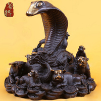 Bronze Sculpture Copper Crafts Decoration Zodiac Snake Zodiac Animal Buddha Bronze Sculpture Decoration