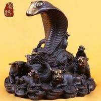Bronze Sculpture Copper Crafts Decoration Zodiac Snake Zodiac Animal Buddha Bronze Sculpture Decoration