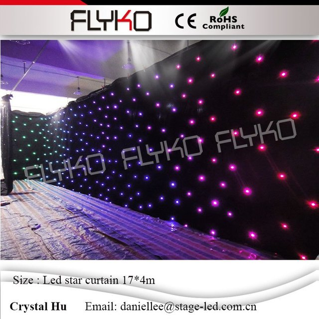 17m4m Flexible Led Star ClothRGB Stage Backdrop LED Curtain For