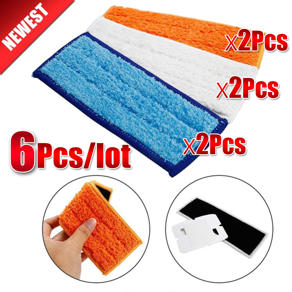 6Pcs/lot Top Quality Robot Cleaner Brushes Spare Parts Wet Pad Mop+Damp Pad Mop+Dry Pad Mop For IRobot Braava Jet 240 241