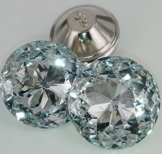 (200 Stks/partij) 30mm Redbud Puntige Top Rhinestone Crystal Knoppen Plakboek Craft Rhinestone Crystal Naaien Sofa Diy