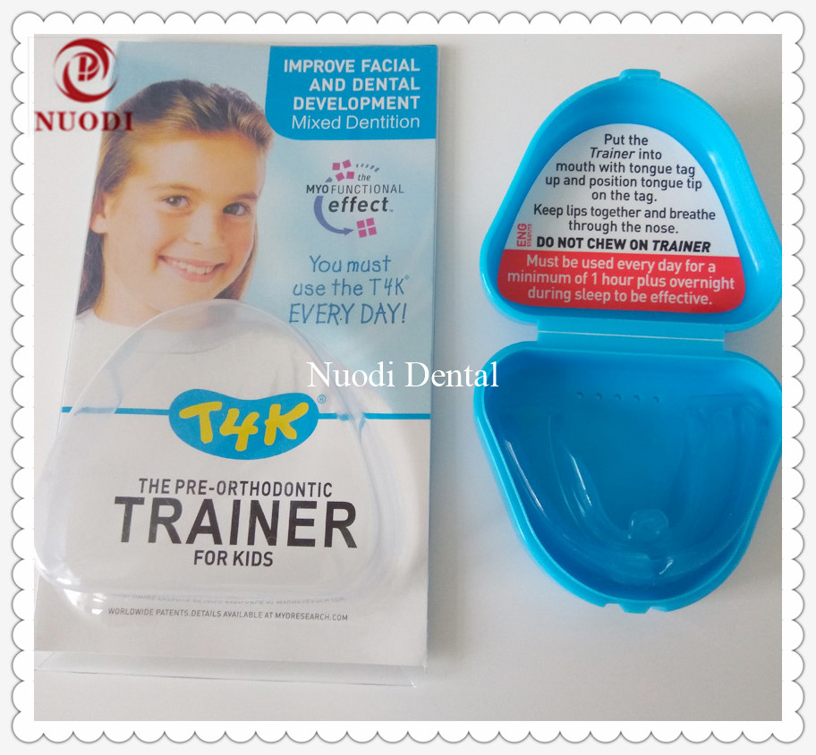 T4K Teeth Trainer appliance for 6-8years old/t4k Orthodontic Brace/pre-orthodontic trainer T4K/MRC T4K trainer for child t4k teeth orthodontic trainer made in australia phase 2 red color