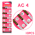 +Free Shipping+ +Hot Selling+ 10pcs AG4 GA4 SR626 376 377 565 D377 LR626 LR66 SR66 Button Cell Coin Battery