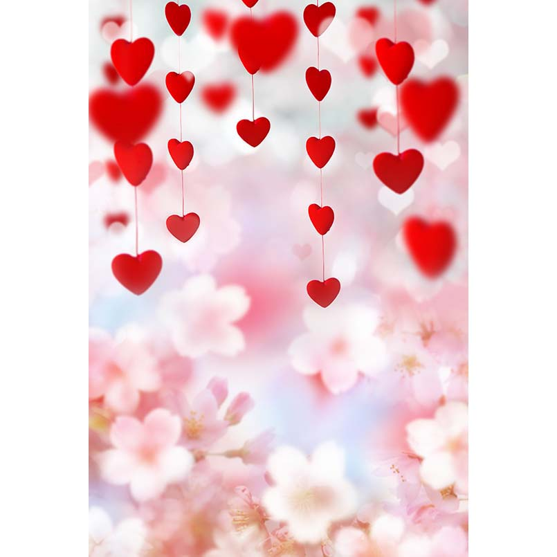 Customize love 3 D red heart shape photo studio backgrounds for baby party portrait photography backdrops props 12ft vinyl print cloth pink flower wall photography backdrops for photo studio portrait backgrounds photographic props f 1495