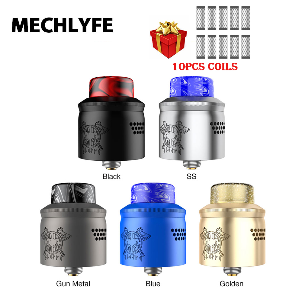 MECHLYFE X AmbitionZ SLATRA Mesh BF RDA 25mm Diameter Atomizer W/ Dual Mesh Coil/ Wire Coil & Resin Drip Tip Vs DROP RDA/ Zeus X