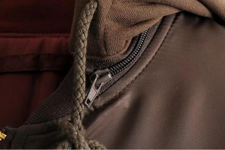 Lâche Et Double Silhouette Femmes Veste Vent face Automne Chaud Épais Femme Capuche Coton Zipper 2 Manteau Bf Hiver 1 Portant OnzzAd