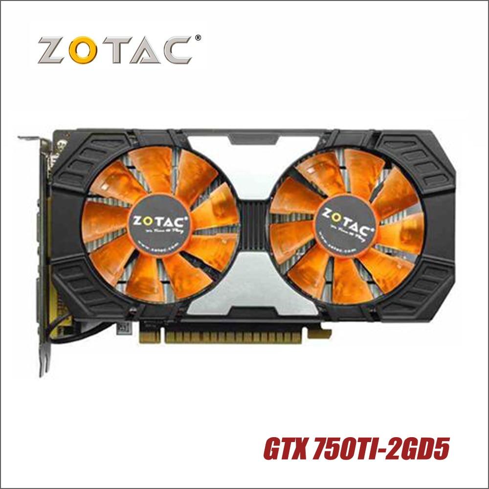 Used original ZOTAC Video Card GTX 750Ti-2GD5 GDDR5 Graphics Cards For nVIDIA GeForce GTX750 Ti 2GB GTX 750 TI 2G 1050ti Hdmi used original zotac video card gtx 750ti 2gd5 gddr5 graphics cards for nvidia geforce gtx750 ti 2gb gtx 750 ti 2g 1050ti hdmi