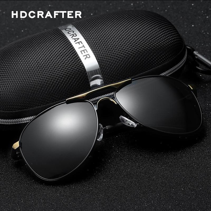 Originální značky Pánské sluneční brýle Značkový design Sluneční brýle Kovový rám Polarizované sluneční brýle UV400 Men Driving Brýle Oculos De Sol