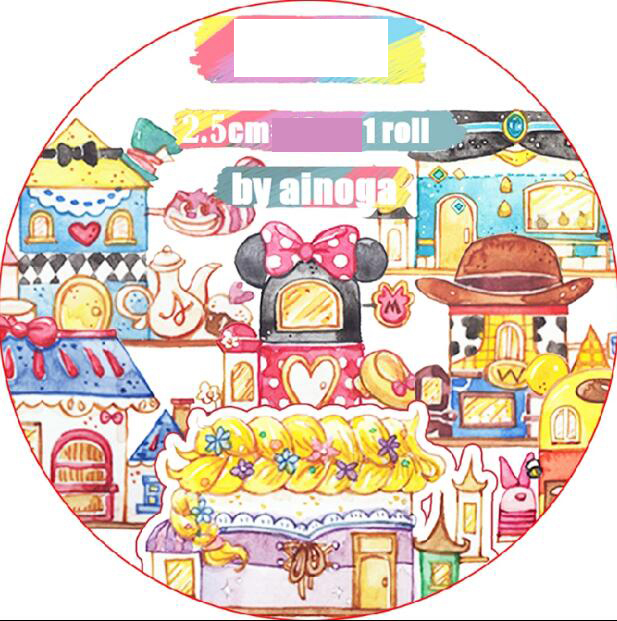 25mm wide colored kawaii Happy childhood Dream house Decoration Washi Tape DIY Planner Diary Scrapbooking Masking Tape Escolar25mm wide colored kawaii Happy childhood Dream house Decoration Washi Tape DIY Planner Diary Scrapbooking Masking Tape Escolar