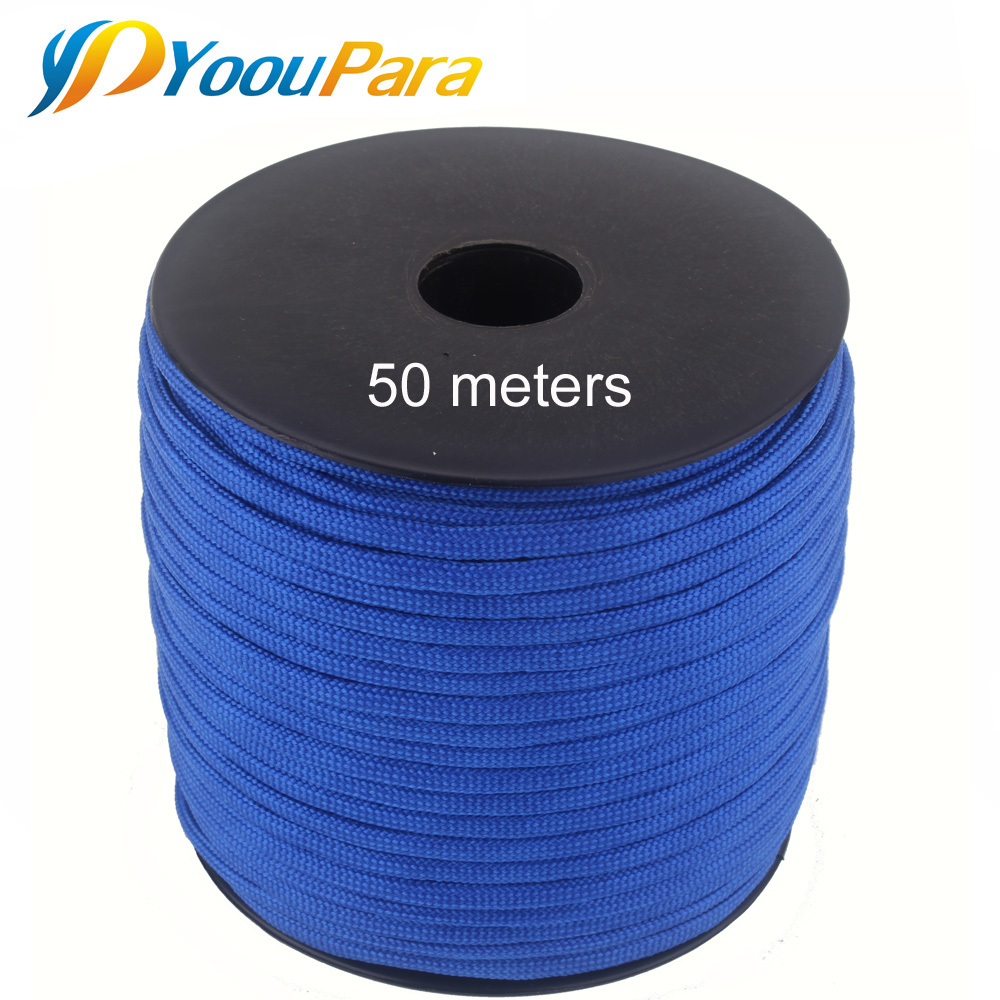 252 Colors 50 M/Spools Paracord 550 Paracord Rope Type III 7 Stand Parachute Cord Outdoor Camping Survival Wind Rope Wholesale hot sale 10ft reflective 550 paracord rope type iii 7 strand light reflecting for survival parachute cord bracelets paracord
