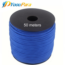 252 kolory 50 M szpule Paracord 550 Paracord liny typu III 7 stojak linka spadochronowa odkryty Camping Survival Wind Rope hurtownie tanie tanio P450M-J YoouPara 50 Meters Spool DIY paracord bracelet Outdoor Camping Emergence Kit 252 different colors 550lbs rope Outdoor Rope