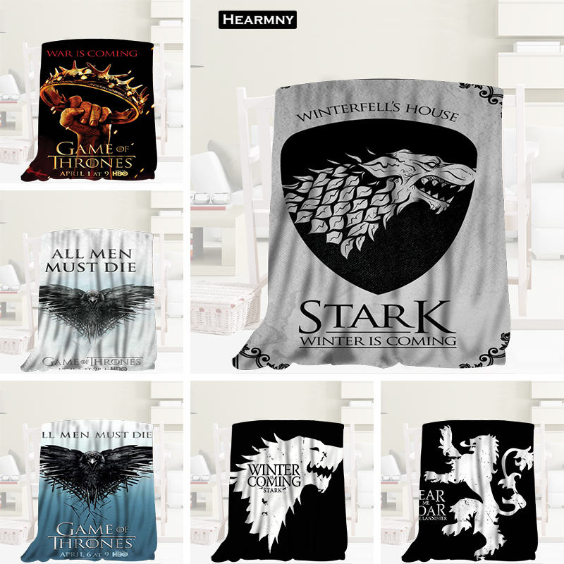 Custom Game Of Thrones Blanket Manta Flannel Blanket Sofa/Bed/Plane Travel Bedding 80X150cm.100X125cm,125X150cmCustom Game Of Thrones Blanket Manta Flannel Blanket Sofa/Bed/Plane Travel Bedding 80X150cm.100X125cm,125X150cm
