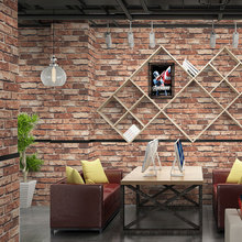 tapety Vintage Brick Wallpapers 3D Waterproof Vinyl Personalized Wall Murals Grey Red Loft Paper Roll for Walls