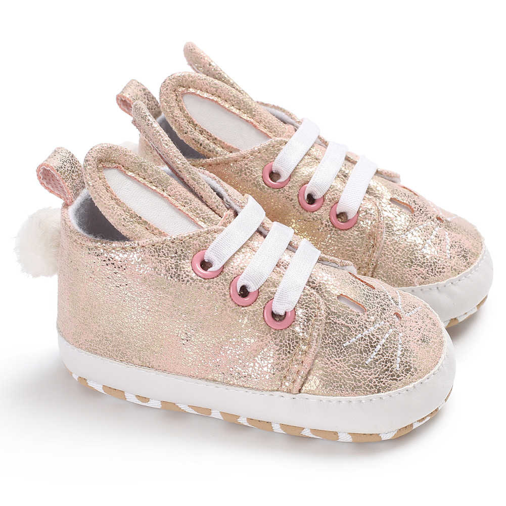17f9a8593c 2018 Popular Toddler Infant Kid Girl Cute Rabbit Ear Sneakers Shiny Faux  Leather Baby Shoes