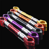 Adjustable Universal Motorcycle Handlebar 7 8 22mm Aluminum Alloy Handle Bar Brace Clamp