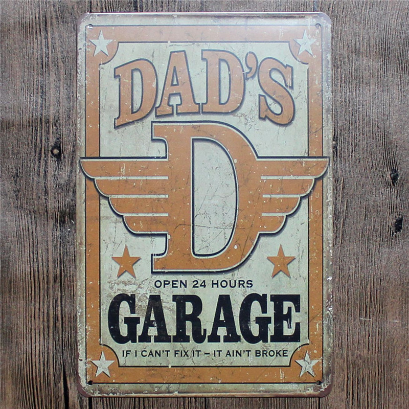 Vintage Home Decor Dad S Garage Vintage Metal Tin Signs Retro Metal Sign Decor The Wall Of Cafe Bar Home Custom Neon Sign