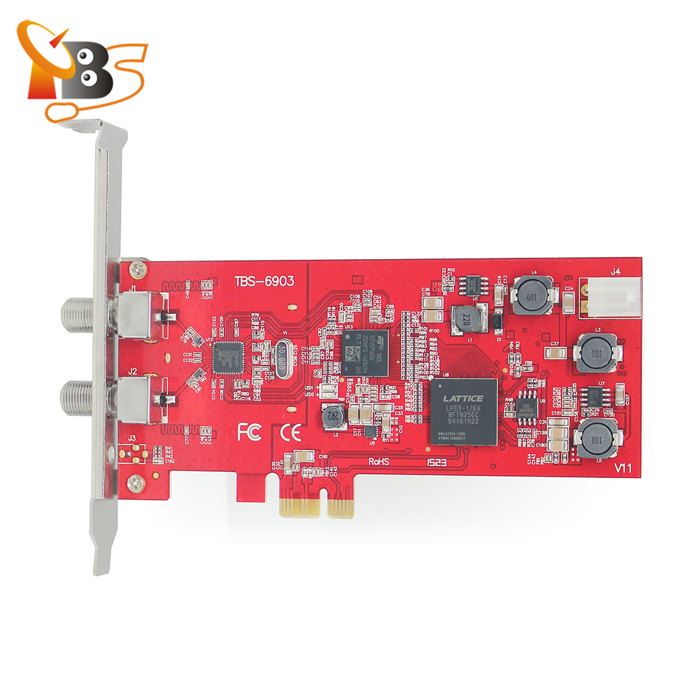TBS6903,compatible with EUMETCast Professional DVB-S2 tuner PCI-e Card Supports CCM, ACM, VCM, Multi Input Stream