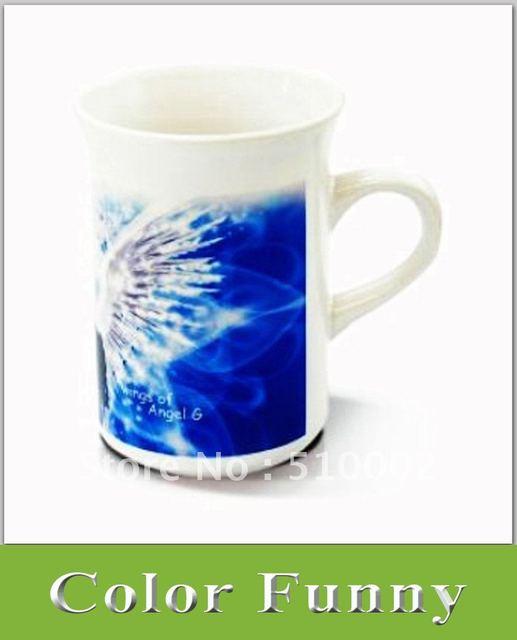 10oz Coated Mug-Curled Rim , Slim Sublimation White Mug, Ceramic White Cup