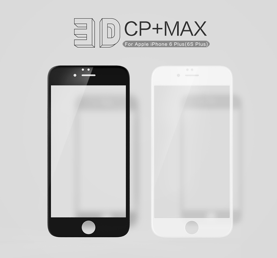 bilder für Nillkin erstaunliche 3d cp + max volle abdeckung anti-explosion 9 h gehärtetem glas schirmschutz für iphone 6 plus/iphone 6s plus