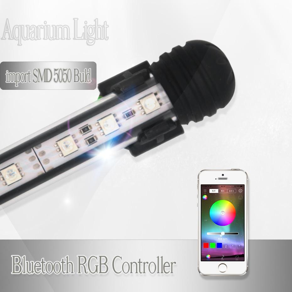 Sommergibile Acquario di Illuminazione A Led RGB Marine Serbatoio di Pesce Ha Condotto La Luce Per La Lampada Acquario Luce Impermeabile Apparecchio di Controller Bluetooth