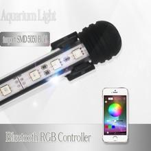 Погружной аквариум светодио дный светодиодное освещение RGB морской аквариум светодио дный светодиодный свет для аквариума лампа водостойкий светильник Bluetooth контроллер
