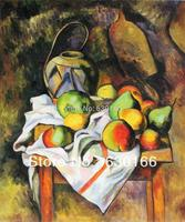 100% Hand Made Painting Canvas Straw Vase by Paul Cezanne Vertical Oil Painting Decorative Art Picture