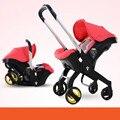 Multi-função carrinho de bebê carrinho de bebê carrinho de criança dobrável Super leve assento cesta 3 em 1