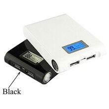 (Solamente caja, batería no incluida) Banco de energía de 5V 12000mah con USB doble 18650, funda cargadora de batería para el teléfono, caja de almacenamiento de batería