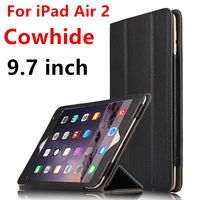 Case Cowhide For IPad Air 2 Protective Smart Cover Genuine Leather Tablet For Apple IPad Air2