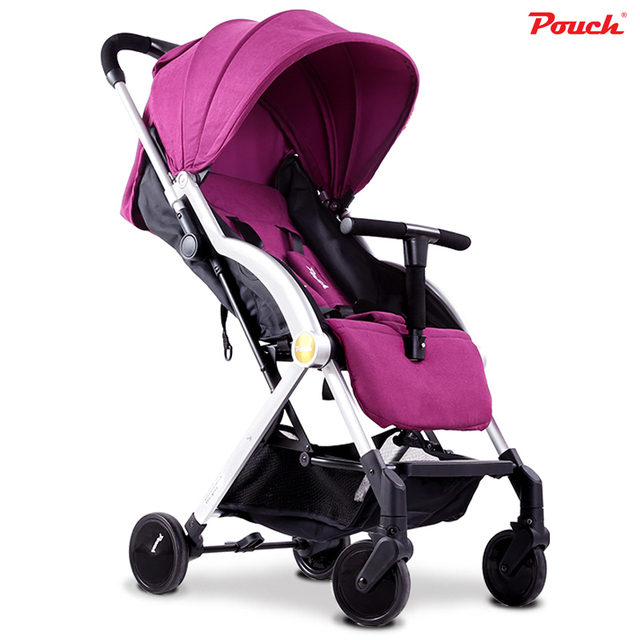 Pouch Mini Portable Baby Stroller Light Weight Baby Pram Easy-Carrying Infant Carriage 4-Wheel Trolley Single Hand Folding 5.3kg
