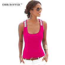 EMIR ROFFER 2017 Summer Fashion Sequin Tops Tanks Camis Sexy Square Collar Sleeveless Casual Slim Women's Vest Clothing