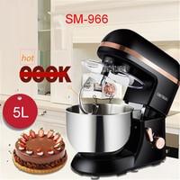 SM 966 220V/50 Hz Mixer Electric Kitchen Robot Kitchen Mixer 5L 1000 W Eggs Kitchen Cake Stand for Cooking Mixer Mixing black
