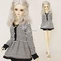 New Style Black White Stripe Dress Skirt for 1/3 BJD Clothes BJD Dress DOD. AS . DZ.SD.