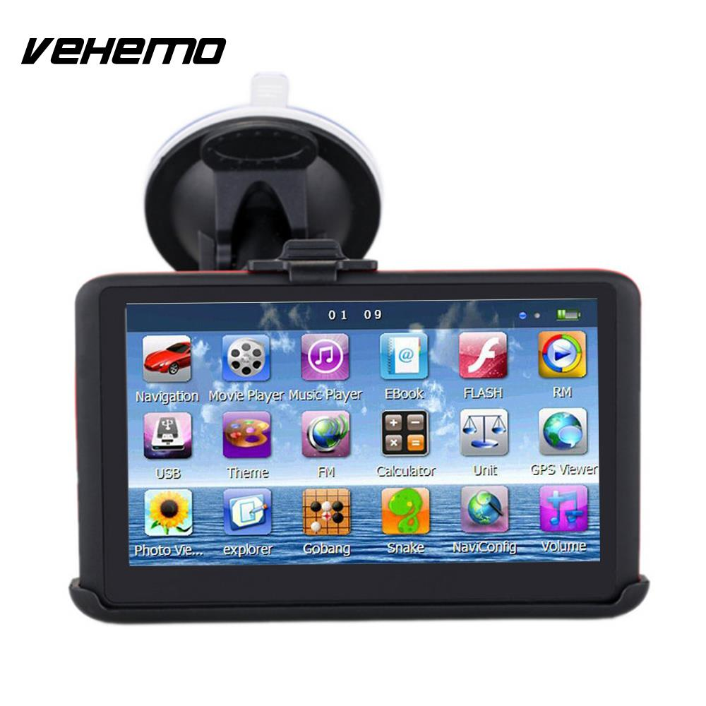 Bluetooth MP4 Digital Car Navigator Portable Recorder Vehicle GPS Navigator Multifunctional Lens GPS Navigator Map цена
