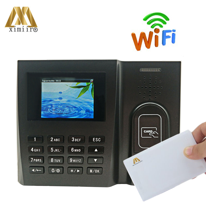 ZK MU260 13.56MHZ MF Card Biometric Time Attendance Time Recording IC Card Time Clock Employee Attendance With WIFI